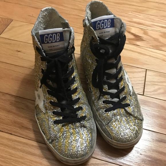 c4d09e01a0f3 Golden Goose Shoes - Golden Goose Glitter Francy Sneakers - size 37